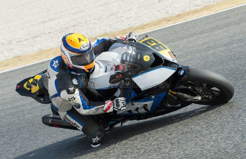ΚΑΤΑΛΑΝΙΚΟ ΠΡΩΤΑΘΛΗΜΑ MOTORCYCLING - VICTOR GALLEGO στοκ φωτογραφίες