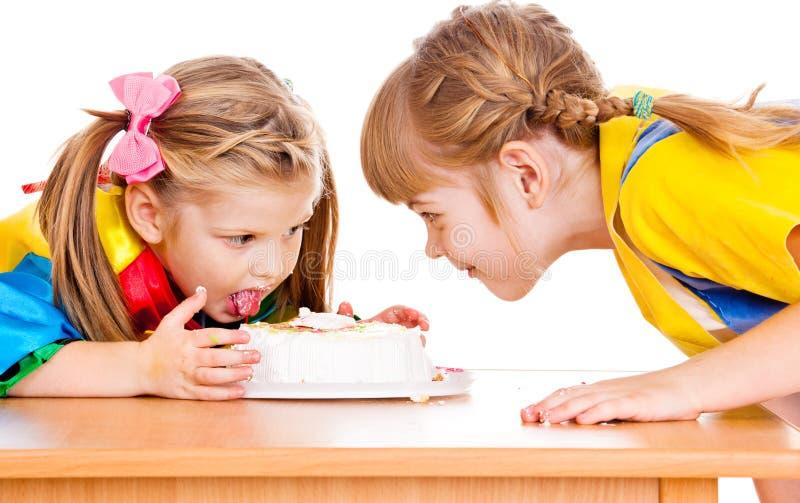 κατανάλωση κέικ στοκ εικόνες με δικαίωμα ελεύθερης χρήσης
