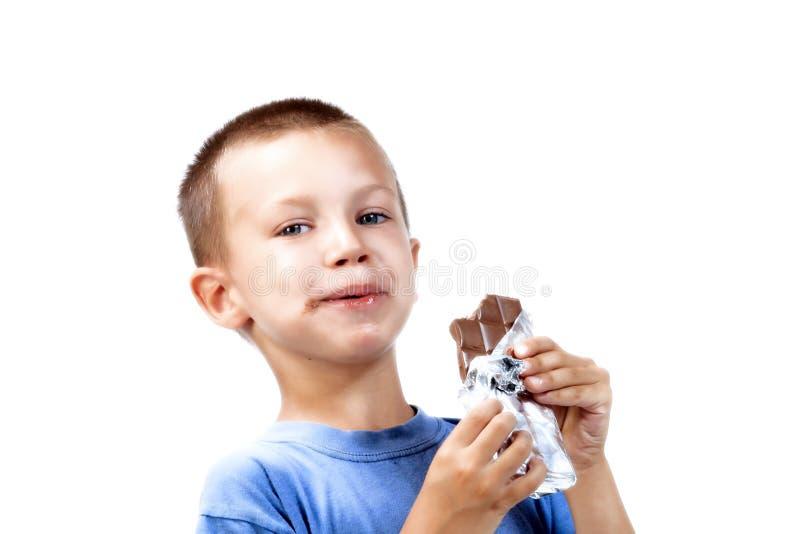 κατανάλωση σοκολάτας στοκ εικόνα με δικαίωμα ελεύθερης χρήσης