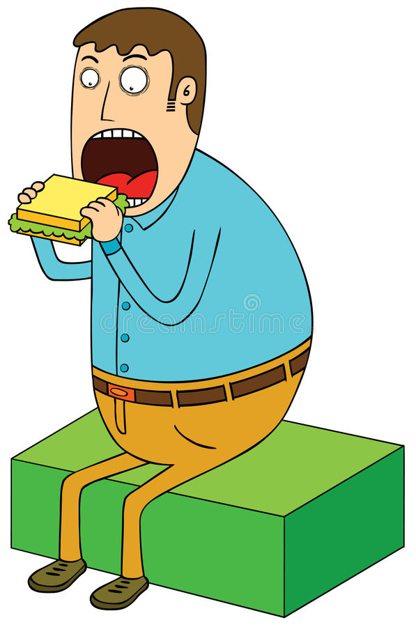 Κατανάλωση του σάντουιτς ελεύθερη απεικόνιση δικαιώματος