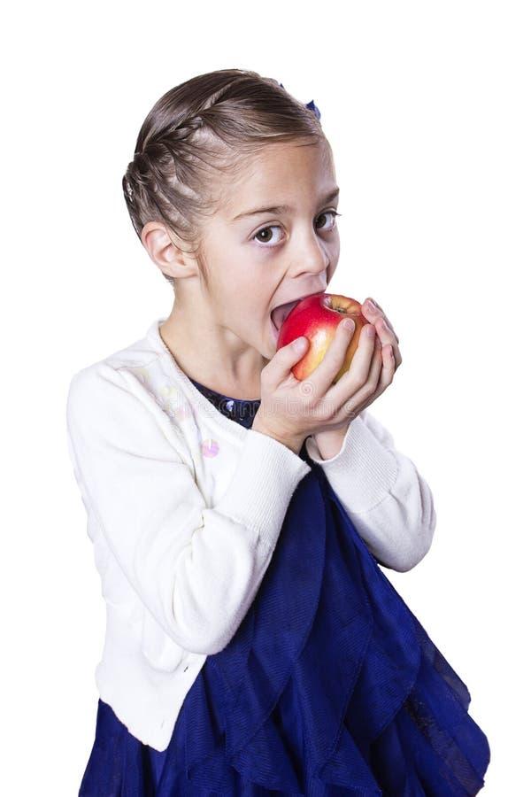 Κατανάλωση μικρών κοριτσιών υγιής στοκ φωτογραφίες με δικαίωμα ελεύθερης χρήσης