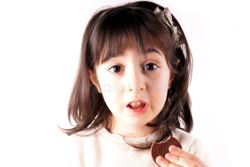 κατανάλωση σοκολάτας στοκ φωτογραφία με δικαίωμα ελεύθερης χρήσης