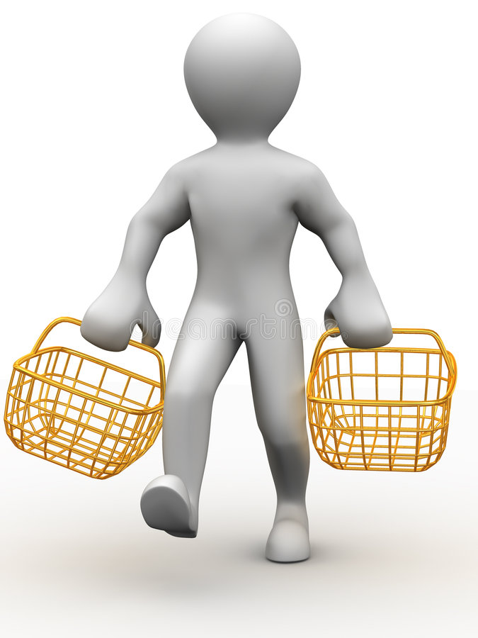 καταναλωτικό άτομο δύο κ&alp απεικόνιση αποθεμάτων