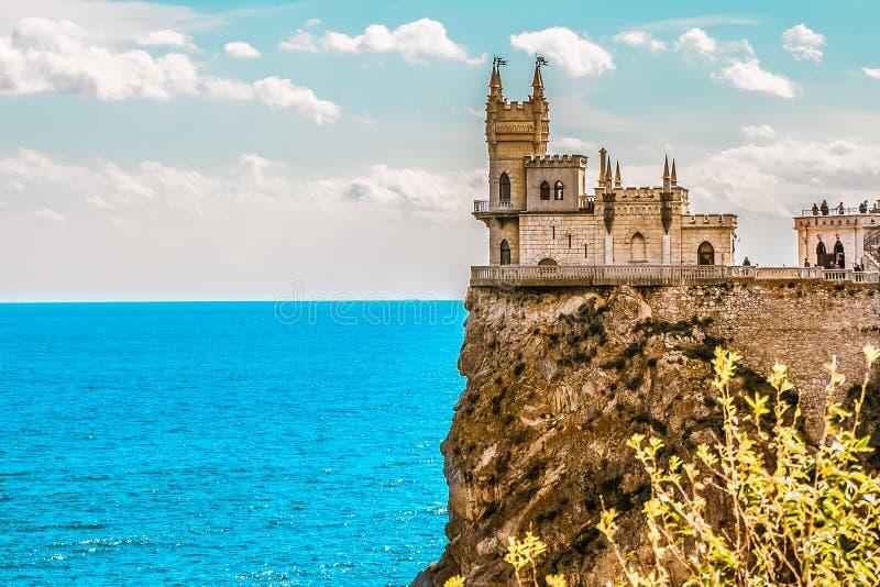 Καταπιείτε τη φωλιά Castle ` s σε έναν βράχο yalta Gaspra Κριμαία στοκ εικόνες με δικαίωμα ελεύθερης χρήσης