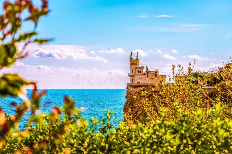 Καταπιείτε τη φωλιά Castle ` s σε έναν βράχο yalta Gaspra Κριμαία στοκ εικόνα