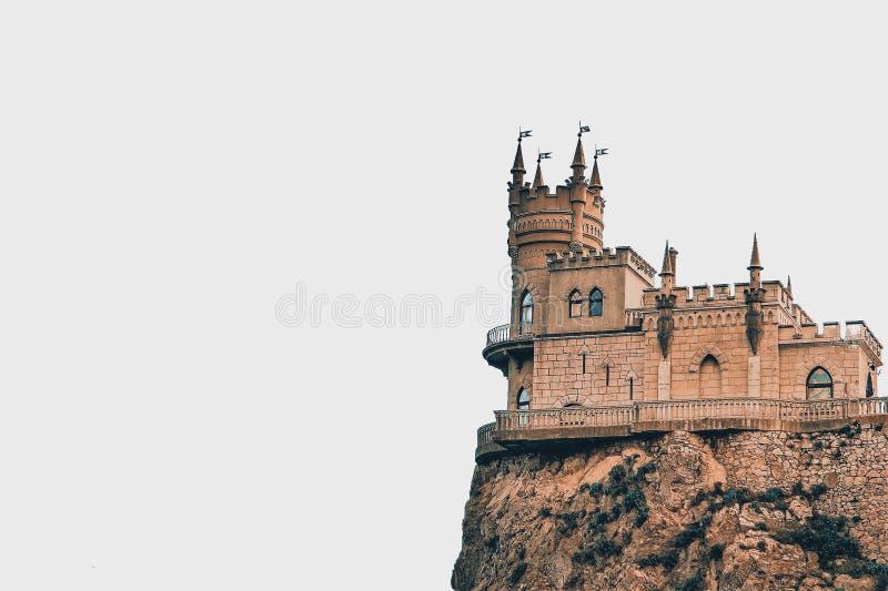 Καταπιείτε τη φωλιά Castle ` s σε έναν βράχο yalta Gaspra Κριμαία στοκ φωτογραφία με δικαίωμα ελεύθερης χρήσης