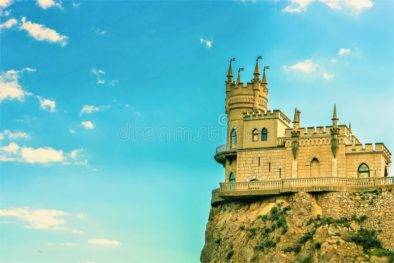 Καταπιείτε τη φωλιά Castle ` s σε έναν βράχο yalta Gaspra Κριμαία στοκ φωτογραφίες