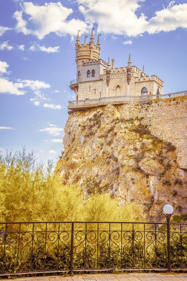 Καταπιείτε τη φωλιά Castle ` s σε έναν βράχο yalta Gaspra Κριμαία στοκ φωτογραφία