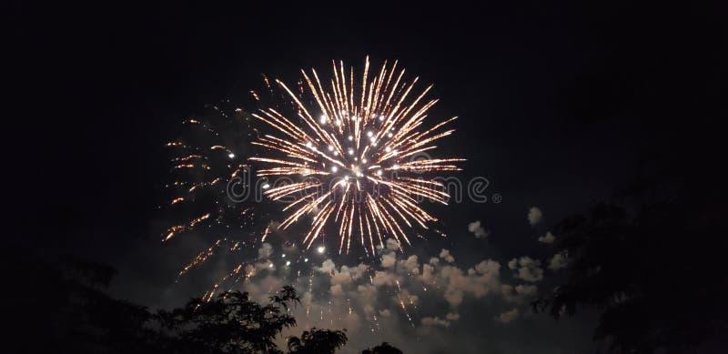 Καταπληκτικά πυροτεχνήματα!!!! Αρκετά η επίδειξη! στοκ φωτογραφία με δικαίωμα ελεύθερης χρήσης