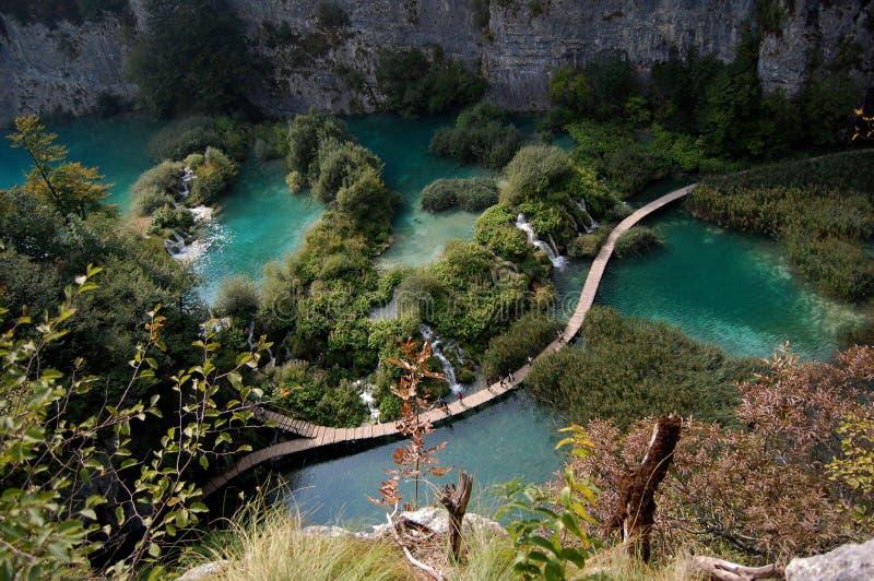 Καταπληκτικές λίμνες Plitvice Κροατία στοκ φωτογραφίες