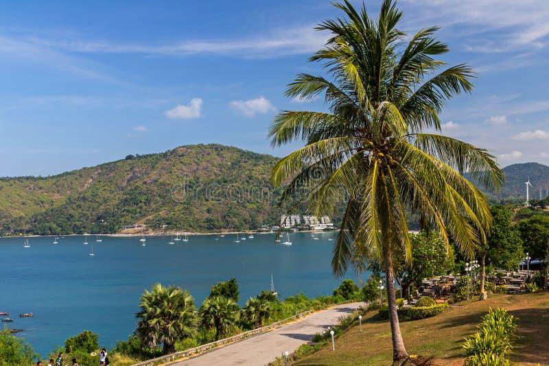 Καταπληκτική άποψη από το ακρωτήριο Promthep σε Phuket στοκ εικόνες