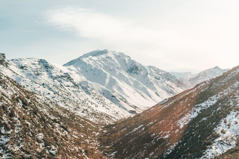 Καταπληκτική άποψη του βουνού των Άνδεων, Χιλή στοκ φωτογραφίες με δικαίωμα ελεύθερης χρήσης