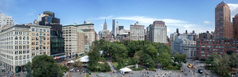 Καταπληκτική πανοραμική εναέρια άποψη του τετραγώνου ένωσης στην πόλη της Νέας Υόρκης ΗΠΑ στοκ φωτογραφία με δικαίωμα ελεύθερης χρήσης