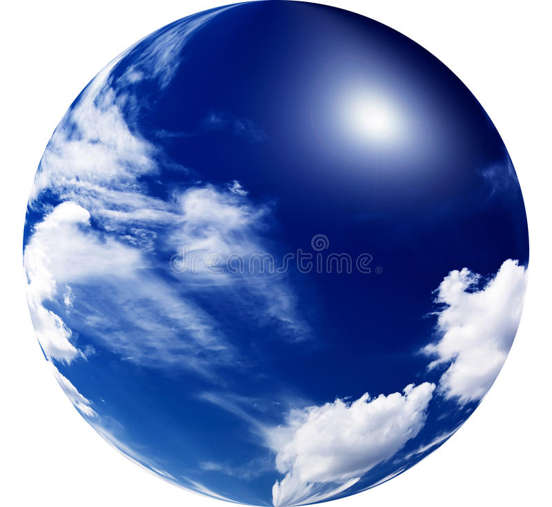 καταπληκτικός ήλιος μπλ&e στοκ φωτογραφίες