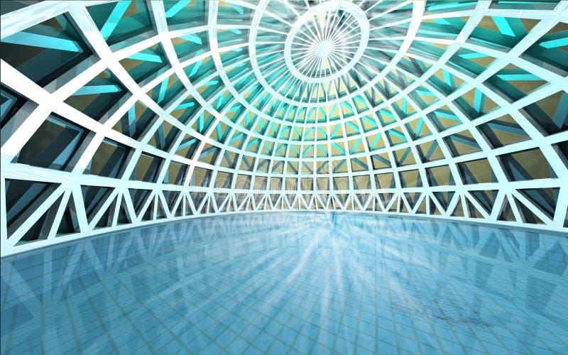 Καταπληκτικός πνευματικός αρχιτεκτονικός θόλος πισινών διανυσματική απεικόνιση