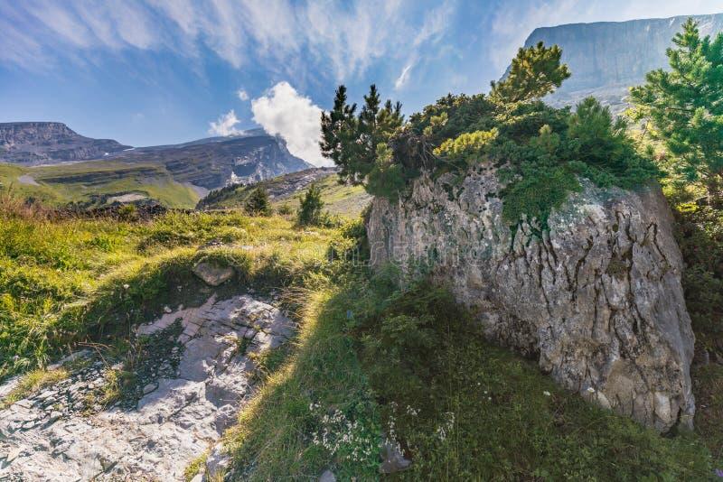 Καταπληκτικός σχηματισμός βράχου HDR στη διαδρομή υψηλών βουνών μέσω της Γερμανίας στοκ φωτογραφία με δικαίωμα ελεύθερης χρήσης