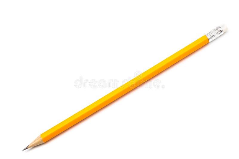 Καταπληκτικό απομονωμένο μολύβι με τη γόμα στο καθαρό άσπρο υπόβαθρο στοκ εικόνα με δικαίωμα ελεύθερης χρήσης