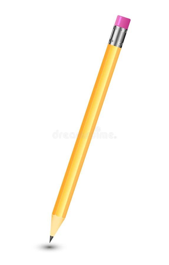 Καταπληκτικό απομονωμένο μολύβι στο καθαρό άσπρο υπόβαθρο απεικόνιση αποθεμάτων