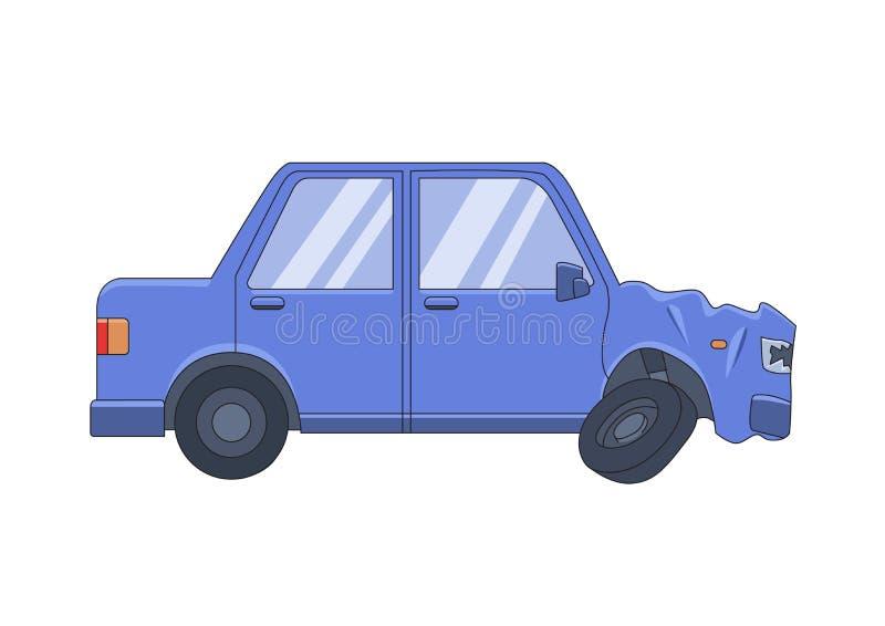 Καταπληκτικό αυτοκίνητο φορείων με τη βαθουλωμένη μπροστινή κουκούλα Το χρηματοκιβώτιο κίνησης, φορά το ποτό ` τ Επίπεδη διανυσμα διανυσματική απεικόνιση