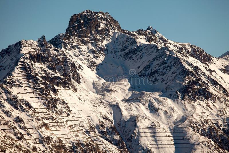 Καταπληκτικό τοπίο βουνών από το ST Moritz, Ελβετία στοκ εικόνες με δικαίωμα ελεύθερης χρήσης