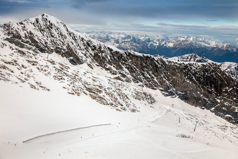 Καταπληκτικό τοπίο βουνών από Hintertux, Αυστρία στοκ φωτογραφίες με δικαίωμα ελεύθερης χρήσης