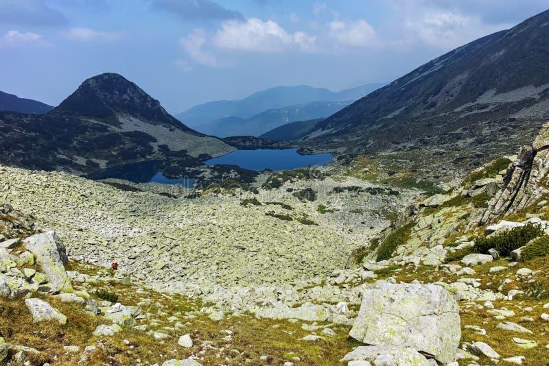 Καταπληκτικό τοπίο με τις λίμνες Gergiyski, βουνό Pirin στοκ φωτογραφία με δικαίωμα ελεύθερης χρήσης