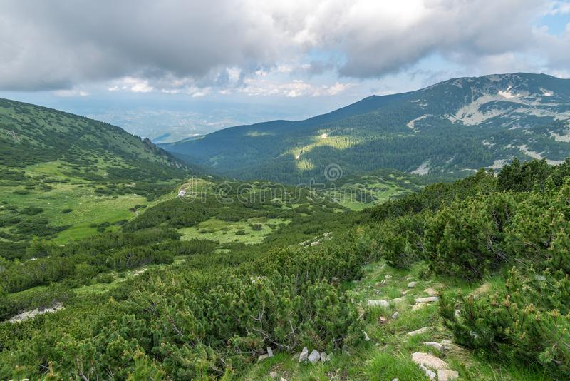 Καταπληκτικό τοπίο του βουνού Pirin, Βουλγαρία στοκ φωτογραφία με δικαίωμα ελεύθερης χρήσης