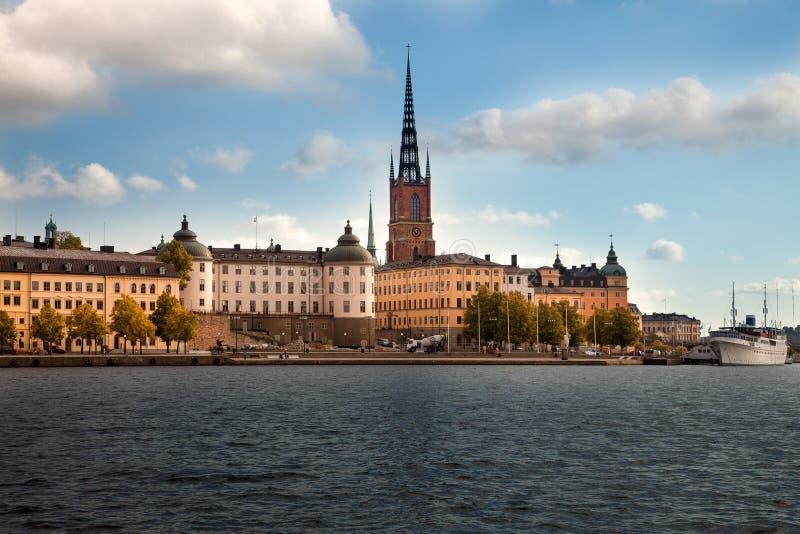 Καταπληκτικές απόψεις της παλαιάς πόλης Gamla Stan της Στοκχόλμης, Σουηδία στοκ εικόνες