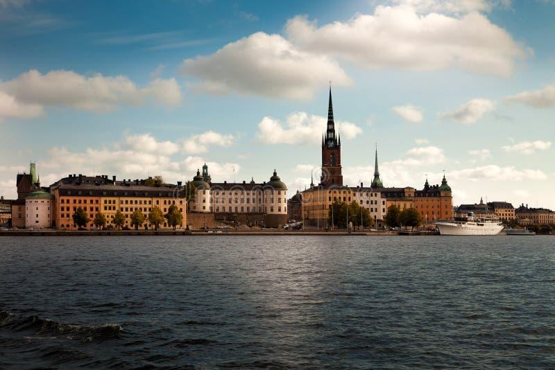 Καταπληκτικές απόψεις της παλαιάς πόλης Gamla Stan της Στοκχόλμης, Σουηδία στοκ φωτογραφίες με δικαίωμα ελεύθερης χρήσης