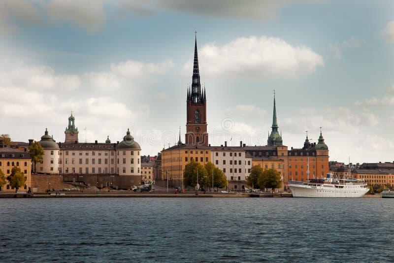 Καταπληκτικές απόψεις της παλαιάς πόλης Gamla Stan της Στοκχόλμης, Σουηδία στοκ εικόνα