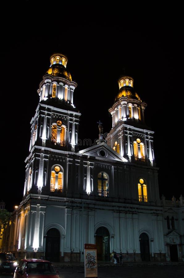 Καταπληκτική αποικιακή εκκλησία τη νύχτα στοκ φωτογραφία με δικαίωμα ελεύθερης χρήσης
