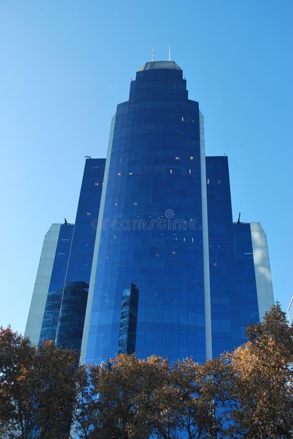 Καταπληκτικοί ουρανοξύστες στο Σαντιάγο, Χιλή στοκ εικόνα