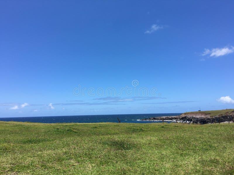Καταπληκτικοί σαφείς μπλε ουρανοί στοκ εικόνες