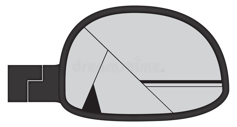 Καταπληκτικός κοντόχοντρος δευτερεύων καθρέφτης αυτοκινήτων ελεύθερη απεικόνιση δικαιώματος