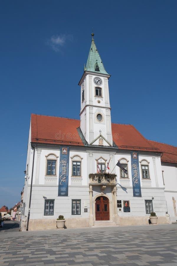 Καταπληκτικό Δημαρχείο σε VaraÅ ¾ DIN, Κροατία στοκ εικόνα