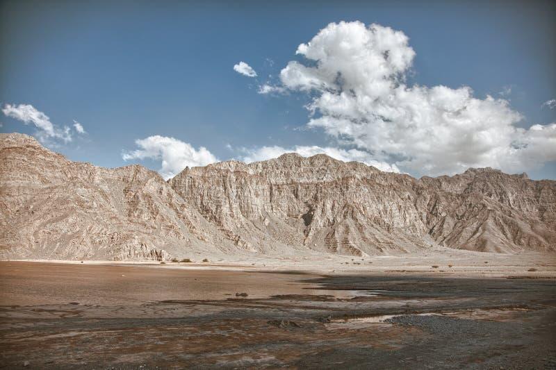 Καταπληκτικό τοπίο βουνών στη χερσόνησο Musandam, Ομάν στοκ εικόνες