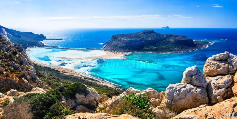 Καταπληκτικό τοπίο των ελληνικών νησιών - κόλπος Balos στην Κρήτη στοκ φωτογραφία με δικαίωμα ελεύθερης χρήσης