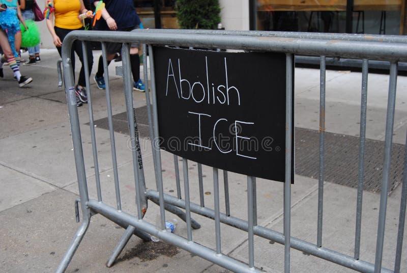 Καταργήστε το ICE, U S Μετανάστευση και τελωνειακή επιβολή στοκ εικόνες