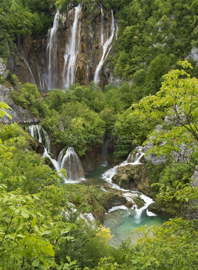Καταρράκτες και λίμνες στο εθνικό πάρκο Plitvice στοκ φωτογραφία με δικαίωμα ελεύθερης χρήσης