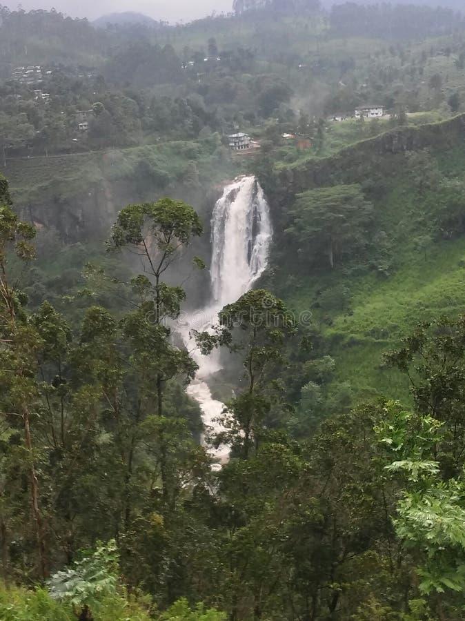 Καταρράκτες στα όμορφα βουνά της Σρι Λάνκα στοκ φωτογραφία