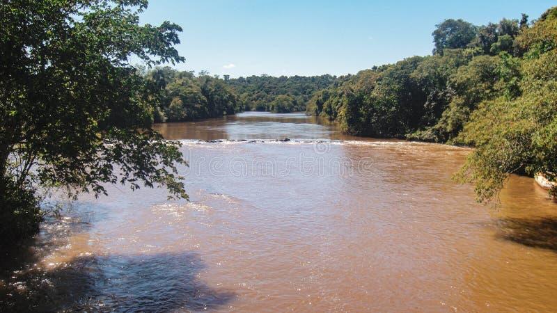 Καταρράκτες Iguazu στα σύνορα της Βραζιλίας και της Αργεντινής στην Αργεντινή στοκ φωτογραφίες με δικαίωμα ελεύθερης χρήσης