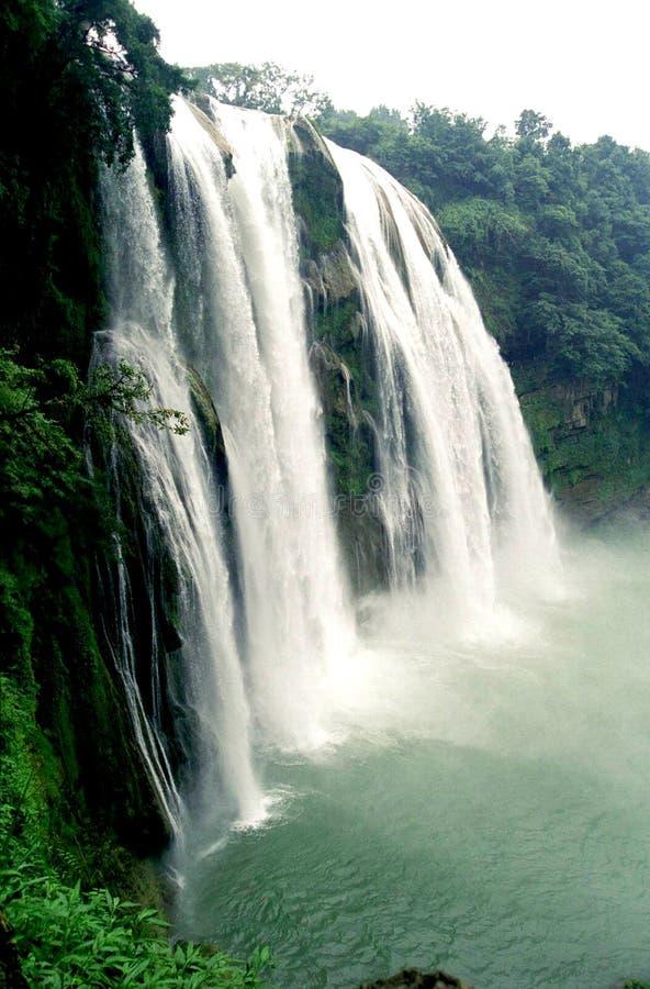 καταρράκτης πλάγιας όψης huang στοκ φωτογραφία
