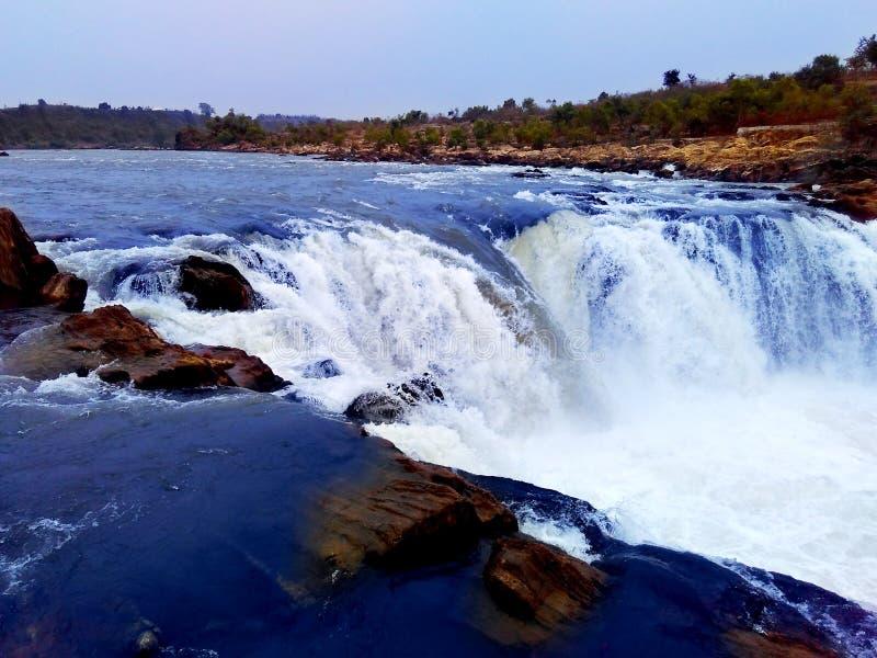 Καταρράκτης ποταμών Narmada, Jabalpur Ινδία στοκ εικόνες