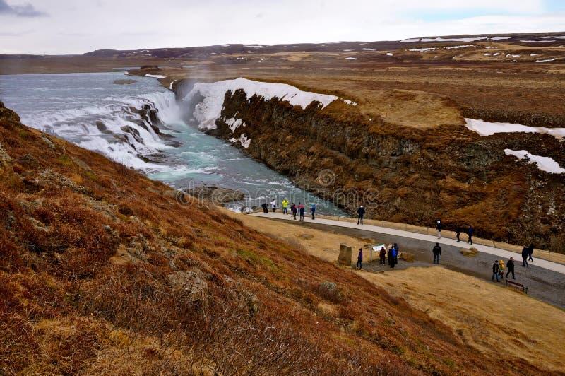 Καταρράκτης στην Ισλανδία στοκ φωτογραφίες