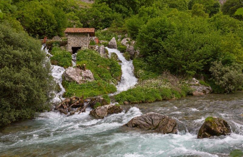 Καταρράκτης στον ποταμό προσοχών στοκ εικόνες