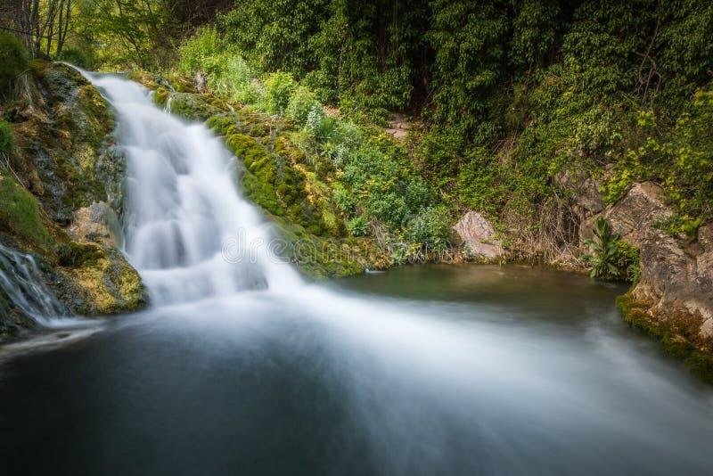 Καταρράκτης στον ποταμό Palancia στοκ εικόνα