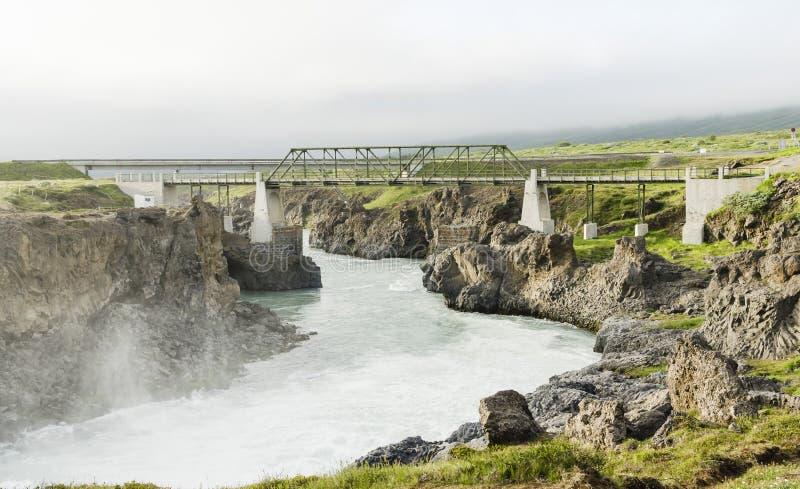 Καταρράκτης της Ισλανδίας το καλοκαίρι στοκ εικόνα με δικαίωμα ελεύθερης χρήσης
