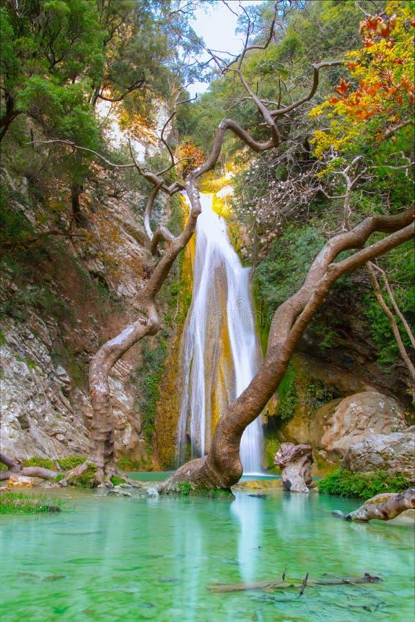 Καταρράκτης της Neda στην Ελλάδα στοκ εικόνες