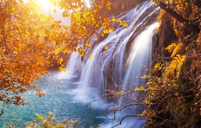 Καταρράκτης το φθινόπωρο στοκ φωτογραφία με δικαίωμα ελεύθερης χρήσης