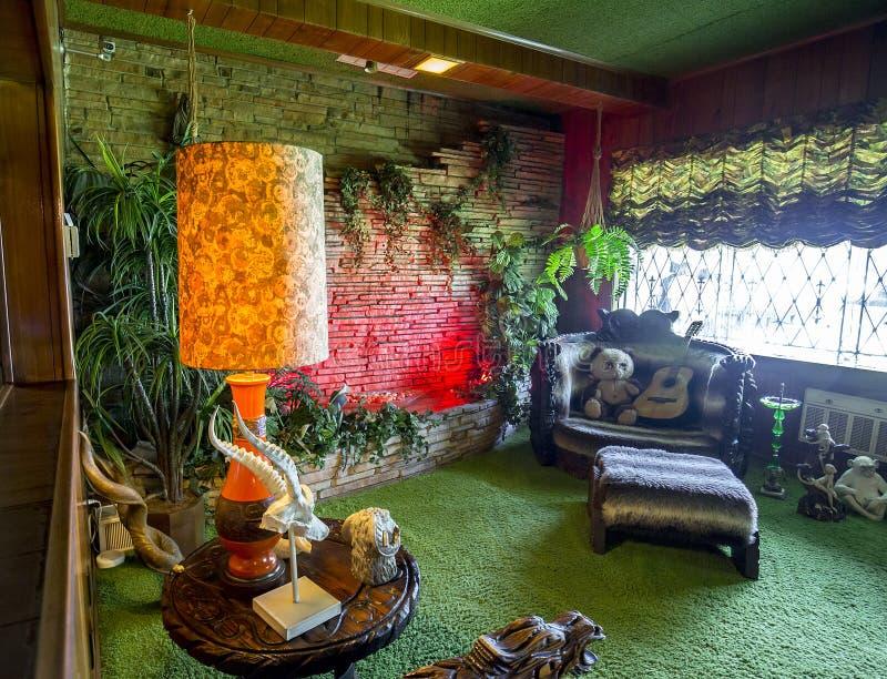 Καταρράκτης δωματίων ζουγκλών σε Graceland στοκ φωτογραφία με δικαίωμα ελεύθερης χρήσης